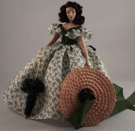Scarlett O'Hara in Barbecue Dress 1 inch by TinyThreadsbyJudi, $195.00!!