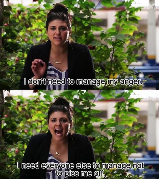 I don't need to manage my anger…