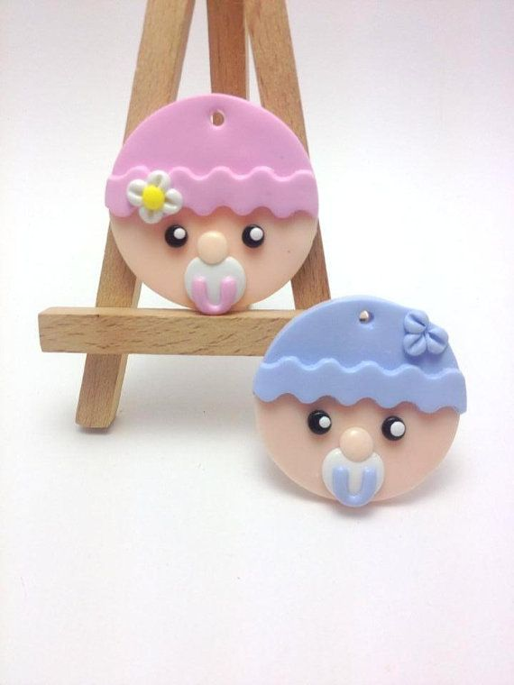 Baby Boy and Baby Girl Favors, Baptism Decorations, Clay Favors, Clay Tags, Baby Shower Thank You Gift, JosCreationsGR