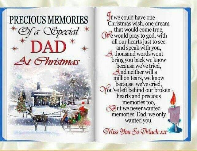 dad i hope you are having a merry christmas up in heaven