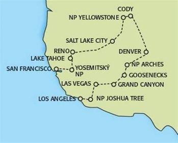 Poznávací zájezdy Spojené státy americké - Národní parky USA - velký okruh - CK REDOK - Poznávací zájezdy, dovolená