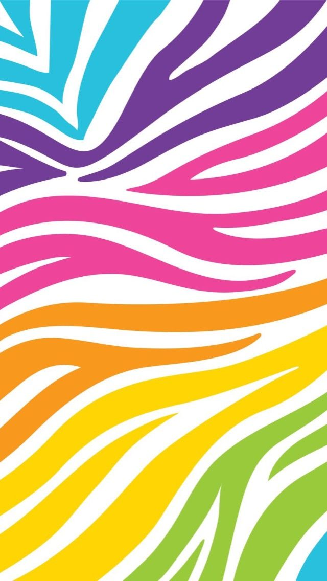 Fondo Colorido Zebra Background | Collection 13+ Wallpapers Multi Colored Zebra Print Wallpaper