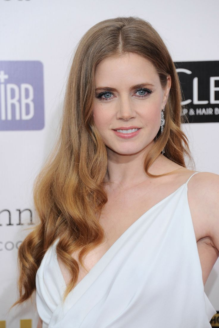 Hairstyles For Round Faces - Amy Adams
