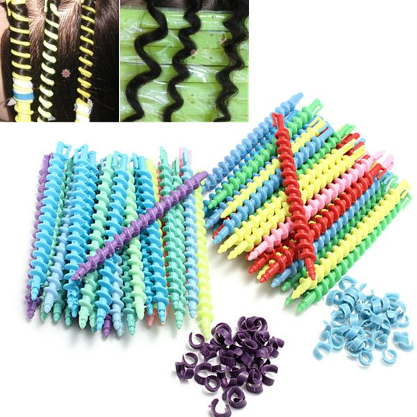 Wholesale 30Pcs Styling Plastic Hairdressing Spiral Hair Perm Rod