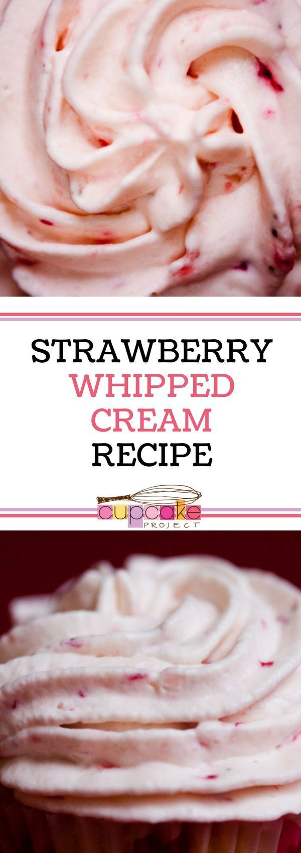 This easy and homemade sweet strawberry whipped cream
