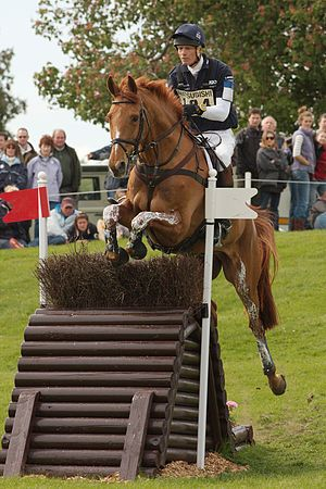 William Fox-Pitt and Idalgo at the Hillside during the cross-country phase of Badminton Horse Trials 2009.