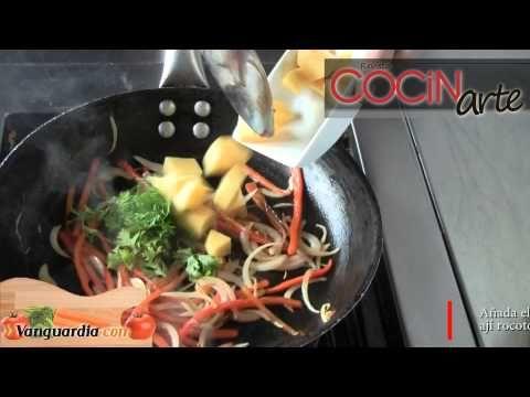 Salsa de pimentón morrón y ajíes • Salsa especial para usar en pescados y mariscos, con sabor peruano • www.cocinarte.co