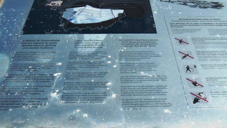 Informationstafeln zur Salzgewinnung in Fuencaliente auf La Palma
