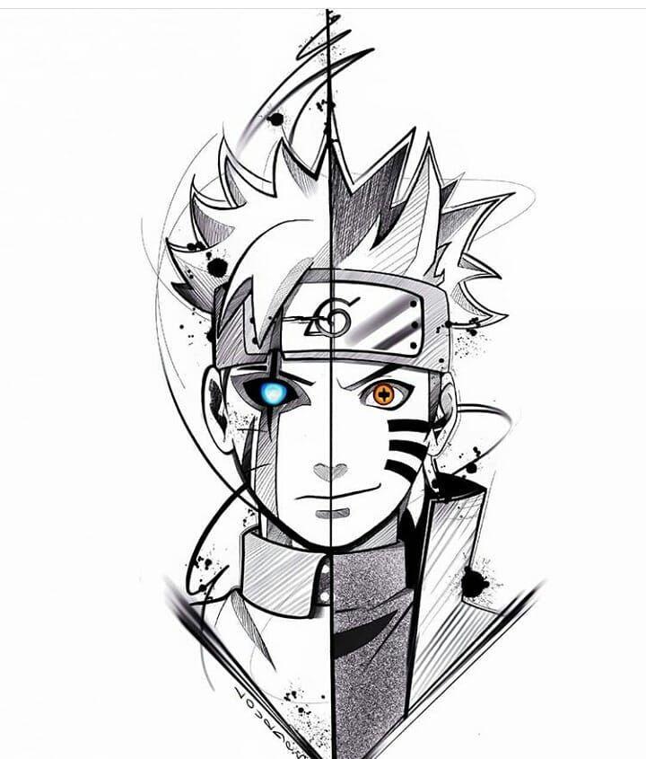 "AnimeTattoo 🇺🇸🇧🇷🇻🇪🇵🇪🇯🇵🏯 on Instagram: ""Boruto & Naruto Design 😍😍 is amazing @lourdes.tattoo ❤ me gusta mucho este diseño 😉  Follow me and Tag your. Otaku Friends to the best…"""
