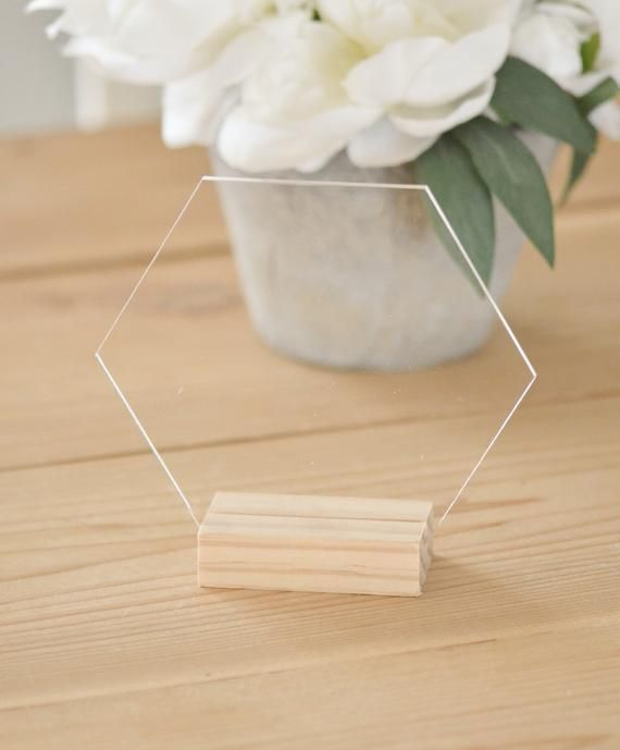 Blank acrylic table number, 5