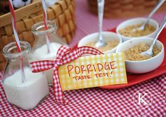 porridge taste test - my goldilocks-crazy girls would love this!