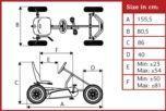 El coche de pedales BERG BASIC BFR es la versión actualizada del primer cuadriciclo que fabricó el Señor BERG. Este kart de pedales es para aquellos que buscan la esencia de conducir, sin añadidos.Kart de pedales BERG BASIC BFR. Un coche de pedales m...