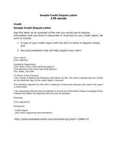 Credit Dispute Letter Template - http://www.valery-novoselsky.org/credit-dispute-letter-template-1257.html