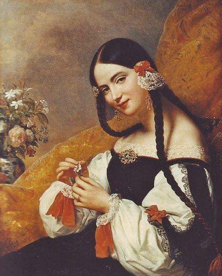 Carl von Steuben (1788–1856) Spanish Lady 1834