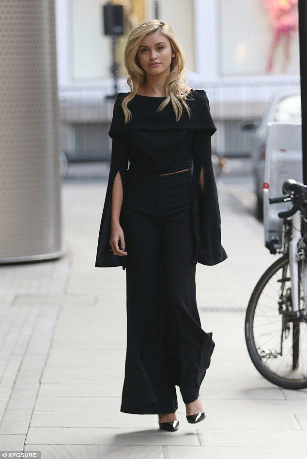 Rising star: Neighbours actress Sarah Ellen, 18, looked every bit the superstar as she headed out of business meetings in London on Saturday
