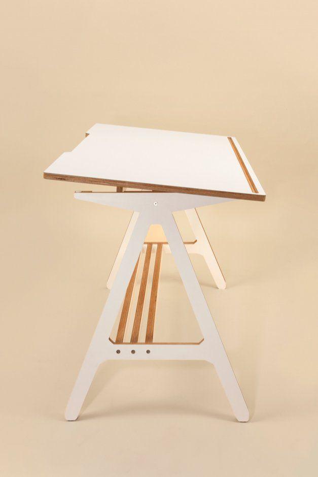 A #Desk #White // Verstellbarer #Schreibtisch in #weiß