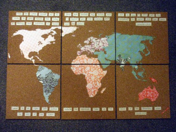 Customizable Cork Board Map on Etsy!  $35: Mission Internship, Custom Corks, Internship Ideas, Cork Boards, Boards Maps, Corks Boards, Customiz Corks, Maps Art, Diy Arts Crafts