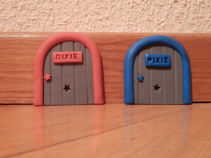 Estas puertas se pueden hacer con plastilina