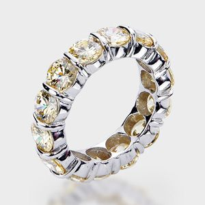 round 14k wedding band this high quality cubic zirconia ring features simulated - High Quality Cubic Zirconia Wedding Rings