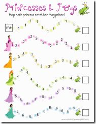 PrincessesAndFrogs printable game