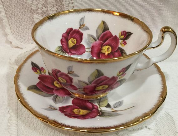 Vintage Royal Adderley Bone China Cup and Saucer Made in England