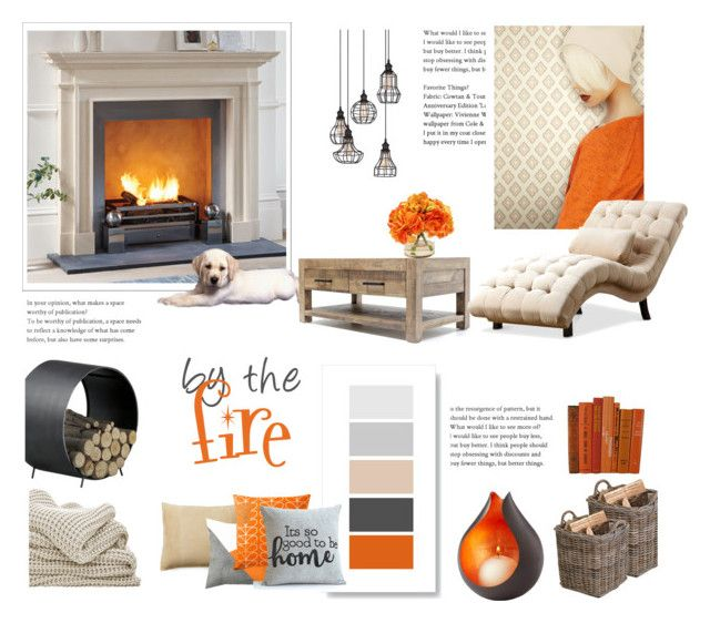 by the fire by levai-magdolna on Polyvore featuring interior, interiors, interior design, home, home decor, interior decorating, York Wallcoverings, Garden Trading, Cyan Design and Ralph Lauren