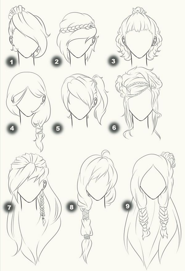 Hairstyles drawing inspiration Plus