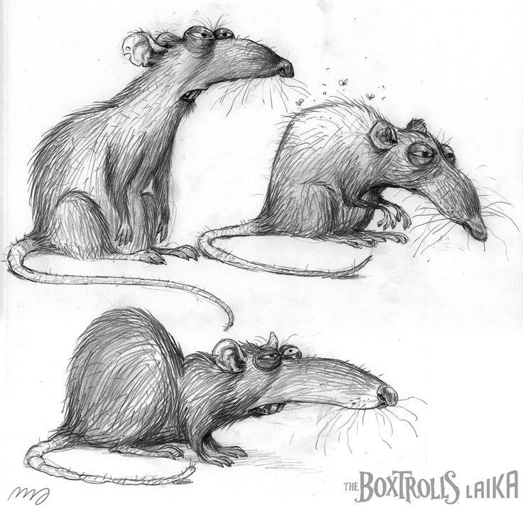 картинки новогодних крыс карандашом каждый