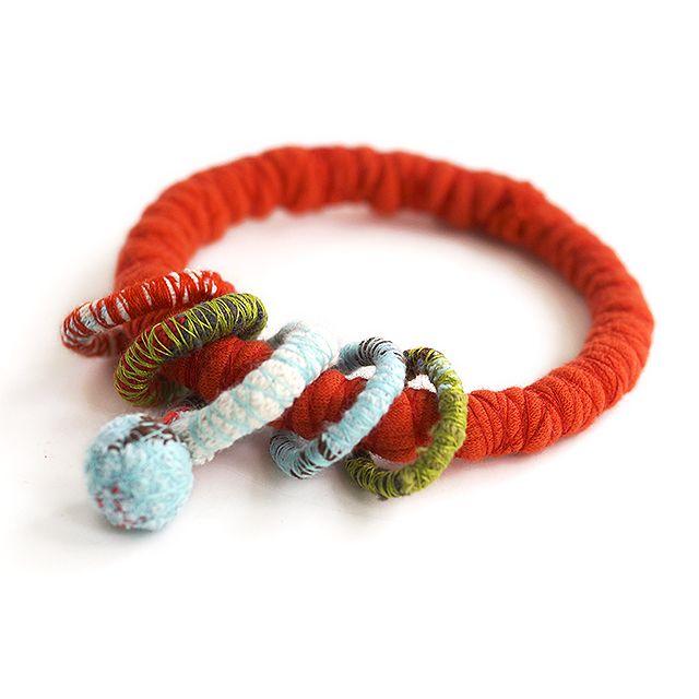 """Fabric bracelet"" Anna Spathari"