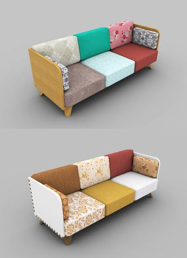 Best 25 patchwork sofa ideas on pinterest pink game for Sofa patchwork