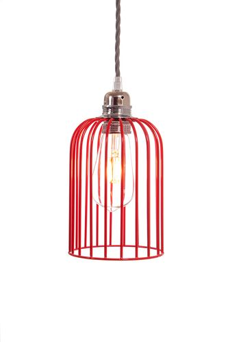 Red Cage Pendant Light Shade 5