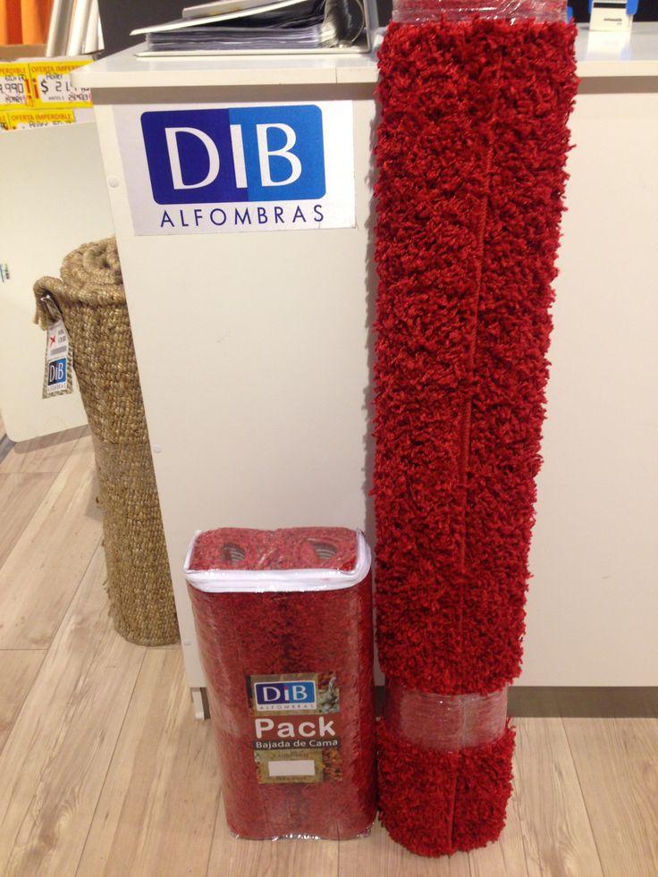 DIB  // Calfombra Casino 133x190 cm. + 2 Bajadas de Cama  // $31.990