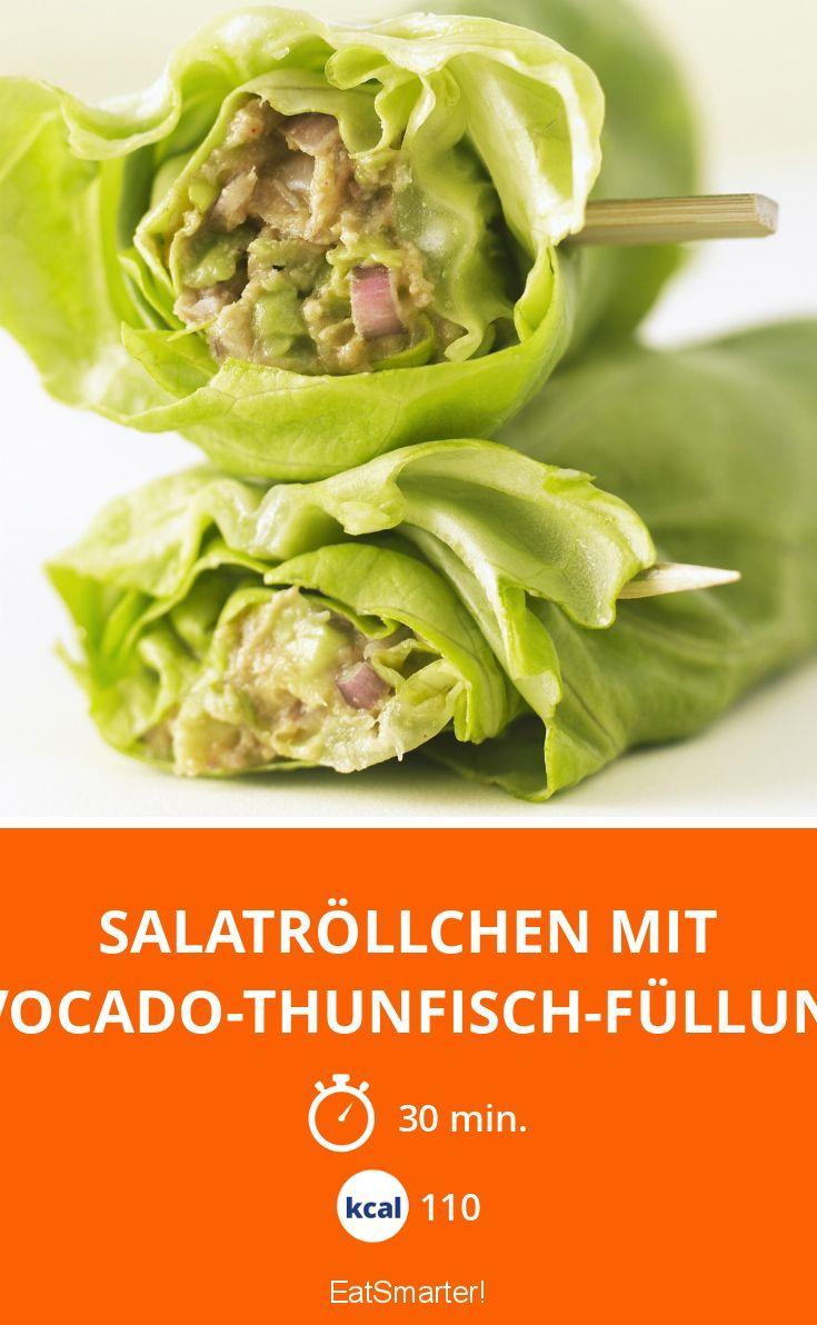 Salatröllchen mit Avocado-Thunfisch-Füllung