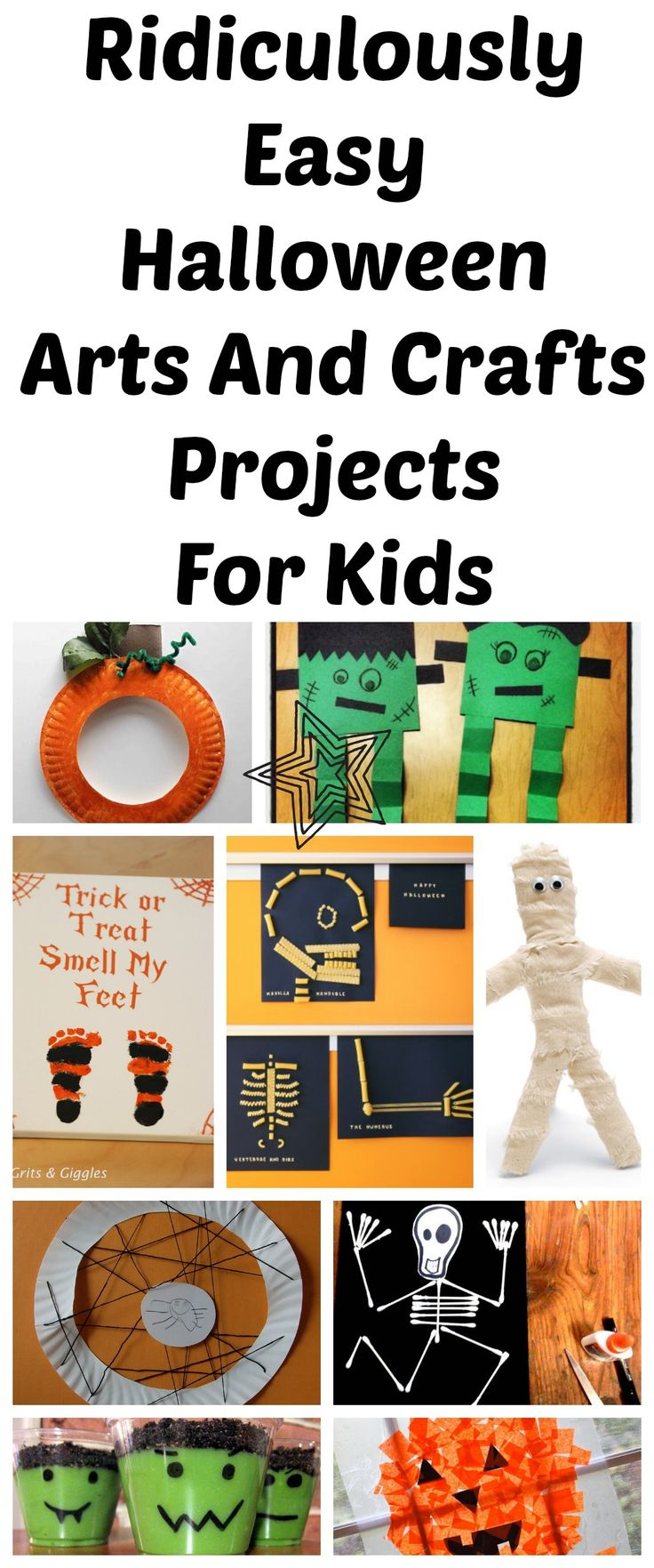 10 Ridiculously Easy Halloween Arts And Crafts Projects To Do With Kids | Lady and the Blog
