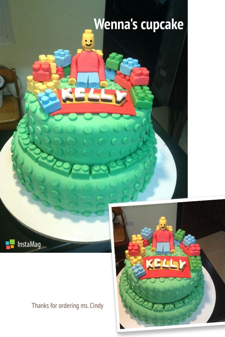 Lego fondant cake for Kelly's birthday