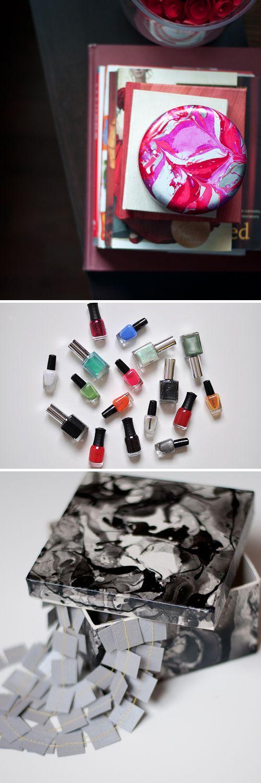 DIY: maak je eigen marmeren look met nagellak Roomed | roomed.nl