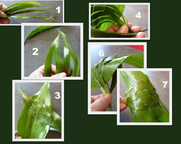 Imagem - Pas à pas du tressage de la feuille d'aspidistra - Blog de ABC29-2010 - Skyrock.com