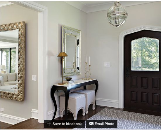 hall walls in benjamin moore classic gray the living room. Black Bedroom Furniture Sets. Home Design Ideas
