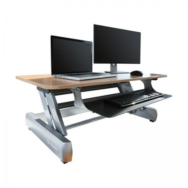 Life Fitness InMovement DT2: höhenverstellbarer Schreibtisch Aufsatz   Life Fitness Stehschreibtisch kaufen → gesünder, kreativer und effektiver arbeiten ✓ weniger Krankentage