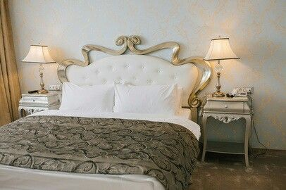 Spectacular headboard bed in art nouveau style