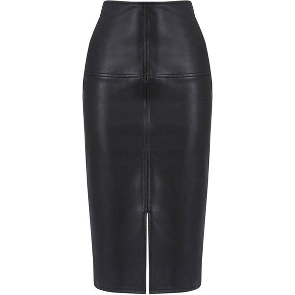 25 best ideas about faux leather pencil skirt on