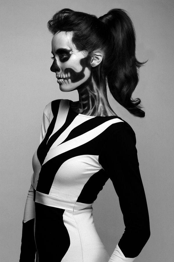 #Halloween #scheletro #trucco #teschio #moda