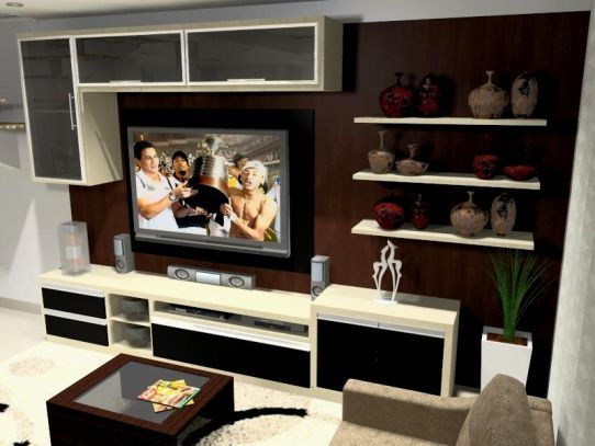 Salas de TV  Larro  Clique Arquitetura  Decor  Pinterest