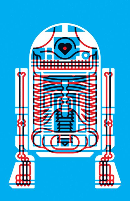 X-Ray R2D2 - Graphic Design by Komboh