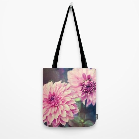 #photography #nature #flowers #floral #pink #dahlia #closeup #macro available in different #homedecor products. Check more at society6.com/julianarw #totebag