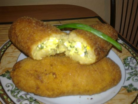 Przepis: Krokiety ziemniaczane z jajkiem