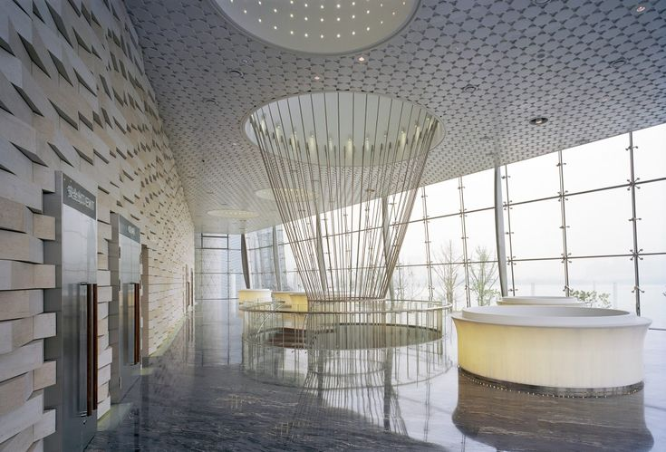 Interior of Wuxi Grand Theatre in Jiangsu, China by PES-ArchitectsInteriors Design, Wuxi Grand, Pesarchitect, Pes Architects, Grand Theatres, Architecture, Lobbies, Commercials Spaces, China