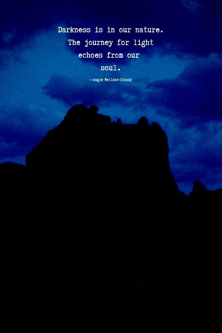 Soulful Quote With Night Sky And Mountain Quotes Soul Sedona