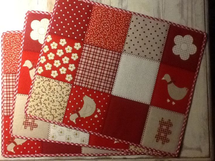 Red patchwork