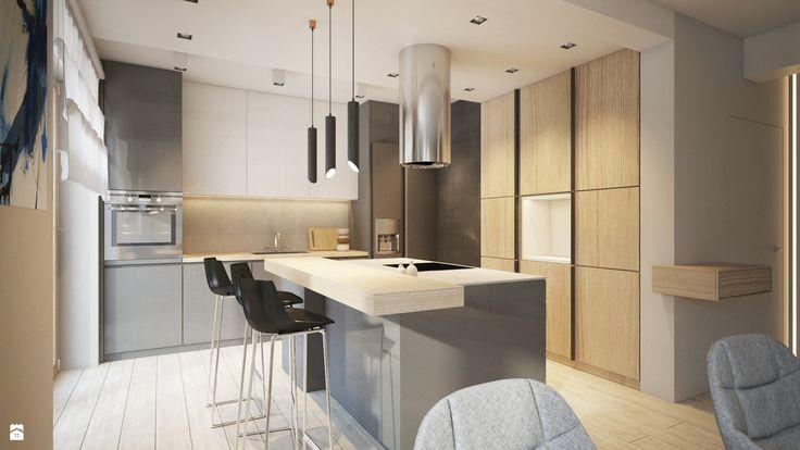 kuchnia z wyspą kuchenną - zdjęcie od Finchstudio Architektura Wnętrz - Kuchnia - Styl Minimalistyczny - Finchstudio Architektura Wnętrz